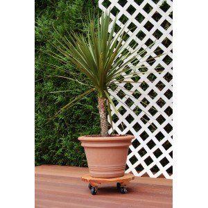 Intermas Gardening 190075 - Roule pot rond Flora Roll lasuré Ø30 cm
