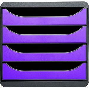 Exacompta 310720D - BIG-BOX, coloris gris souris/violet