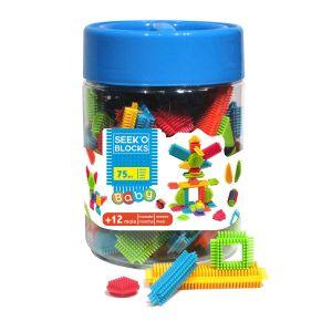 Seek'O Blocks Baby 75 pièces - Jeu de construction 1er âge