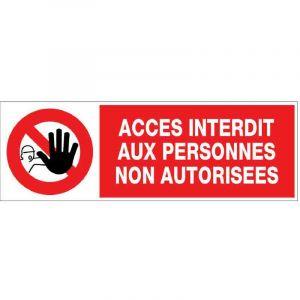 Novap Panneau information 'Accès interdit aux PNA'