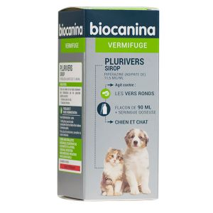 Biocanina Plurivers sirop vermifuge chiens et chats 90 ml
