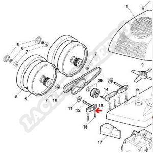 Procopi 1001094 - Rondelle d'essieu Polaris 380
