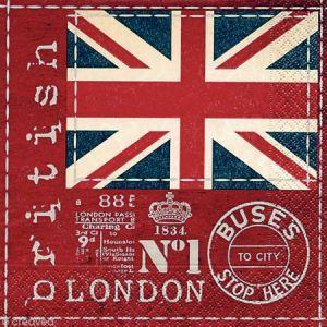 Paper+design 20 serviettes en papier British Flag pour