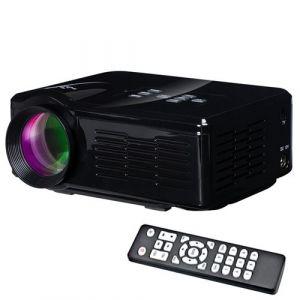 Yonis Mini vidéoprojecteur LED 800 Lumens Home Cinéma Port Carte SD HDMI