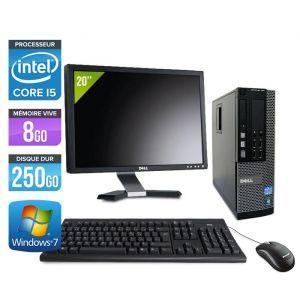 Dell Optiplex 7010 SFF + Ecran 20'' - Intel Core i5-3470 / 3.20 GHz - RAM 4 Go - HDD 250 Go - DVDRW - GigaBit Ethernet - Windows 10 Professionnel