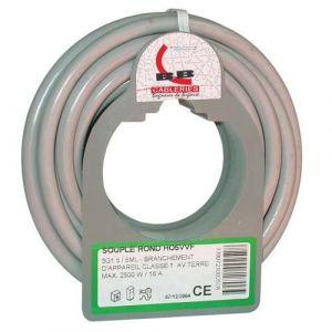 Electraline Câble souple HO5VVF - 3x2.5 mm² - bobinot 25 m - gris