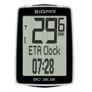Sigma BC 16.16 STS Ordinateur de vélo - Noir / Blanc