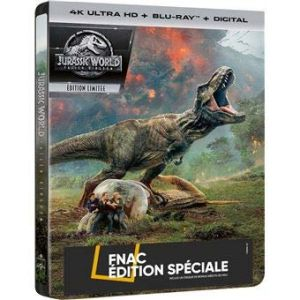 Jurassic World: Fallen Kingdom 4K Ultra HD [4K Ultra HD + Blu-Ray + Digital - Édition boîtier SteelBook] (Inclus un disque de bonus inédit 32min) [4K Ultra HD]