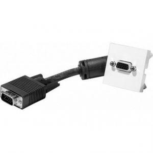 Dexlan Plastron 45x45 VGA mâle / femelle (avec câble 10 m)