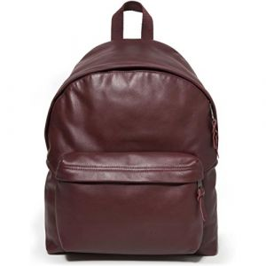 Eastpak Padded Pak'r Leather en cuir Oxblood marron