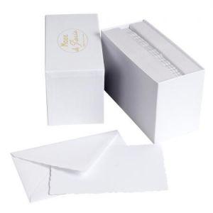 """G. Lalo 30 cartes de correspondance """"Mode de Paris"""" et 30 enveloppes (97 x 152 mm)"""