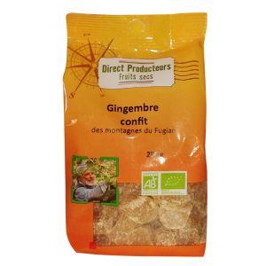 Direct producteurs fruit secs Gingembre confit des montagnes du Fugian Bio - 250 g