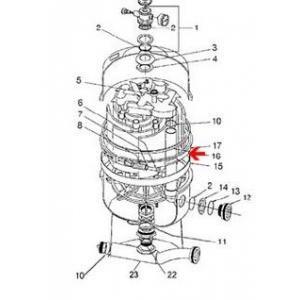 Procopi 251616 - Joint de cuve de filtre Nautilus Ø extérieur 52 cm