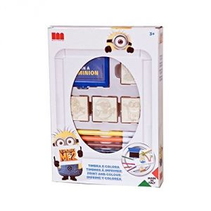 Multiprint 0613016 - Set de 12 timbres à imprimer Minions