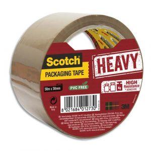 Scotch HV5050-SB - Ruban adhésif d'emballage Heavy, havane, 50mm x 50m, ép. 56µ (BP977)