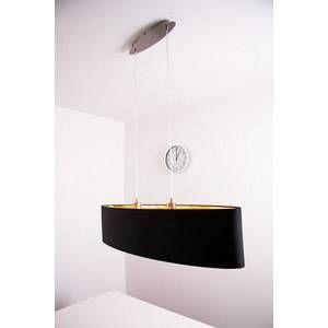 Eglo Lampe pendante noire Maserlo 100 cm