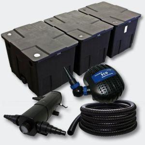 Kit de Filtration de B in 90000l 18W UVC Stérilisateur Pompe éco Tuyau