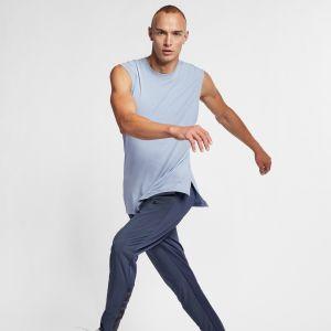 Nike Débardeur de training de yoga Dri-FIT pour Homme - Bleu - Taille XL - Male