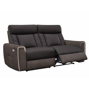 Roméo II - Canapé 2/3 places relax électrique en simili et microfibre