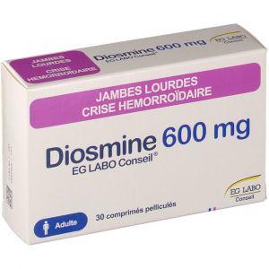 E.G. Labo Diosmine Conseil 600 mg - 30 Comprimés