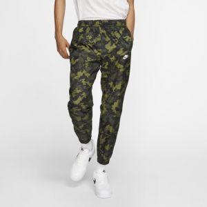 Nike Pantalon de survêtement camouflage tissé Sportswear pour Homme - Olive - Taille L - Male