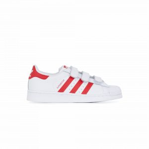 Adidas Chaussures casual Superstar CF C Originals Blanc / Rouge - Taille 33