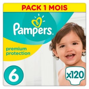 Pampers Premium Protection taille 6 (15 kg+) - 120 couches