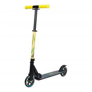 Nijdam Trottinette pliable Urban Rider 125 Noir et jaune