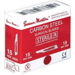 Swann-Morton 100 lames de bistouri stériles n°15