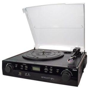 Brigmton BTC-406REC - Tourne-disque + enregistreur cassette