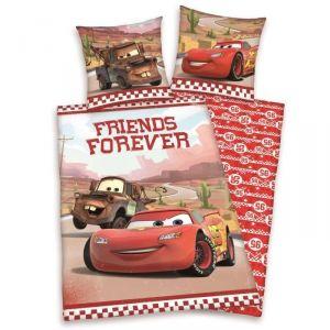 Cars Friends Forever - Housse de couette et taie (140 x 200 cm)