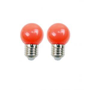 Easy Connect Blister de 2 ampoules - E27 - LED 1W - Rouge