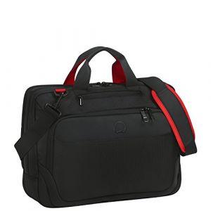 Delsey PARVIS PLUS Mallette ordinateur à roulettes, 14 litres, noir
