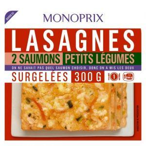 Monoprix Lasagnes 2 saumons petits légumes