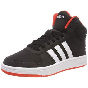 Adidas Hoops Mid 2.0 K, Chaussures de Fitness Mixte Adulte, Noir (Negbás/Ftwbla/Roalre 000), 38 2/3 EU