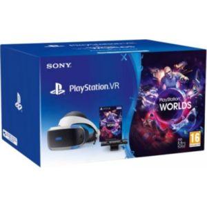 Sony Casque de réalité virtuelle PSVR + Caméra V2 + VR Worlds