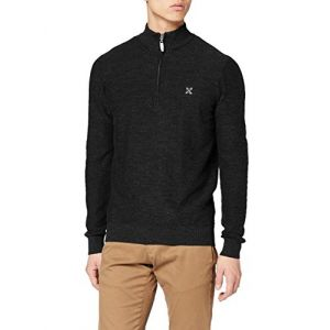 Oxbow PUMPSTON Pull Homme, Noir Chiné, FR : L (Taille Fabricant : L)