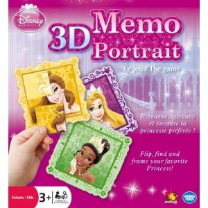 Asmodée Mémo portrait 3D Princesses Disney