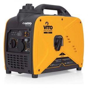 Vito Pro-Power Groupe électrogène portable INVERTER 1400W 60 cm3 VITO Silencieux Onduleur Générateur de courant Chantiers Camping Maison