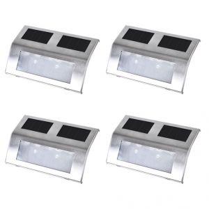 VidaXL 4 lampes solaires pour escalier