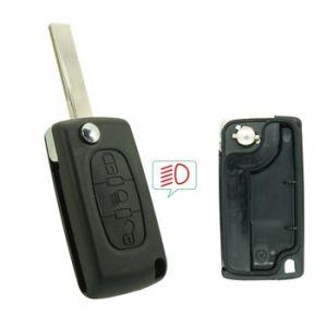 Neoriv Coque de clé télécommande adaptable + lame PSA308CP