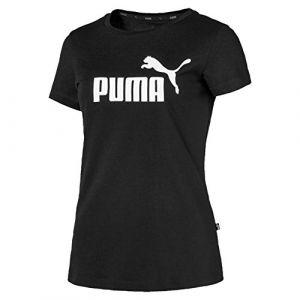 Puma ESS Logo Tee T-Shirt Femme, Noir