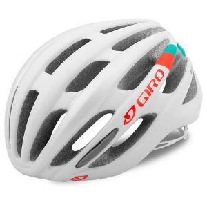 Giro SAGA Blanc/Turquoise/Rouge - 51/55 cm