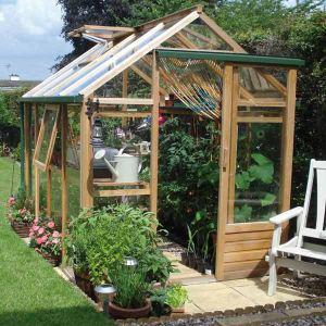 Juliana F09195 Classic - Serre de jardin 4,4 m² m/ 3 mm en bois et verre trempé