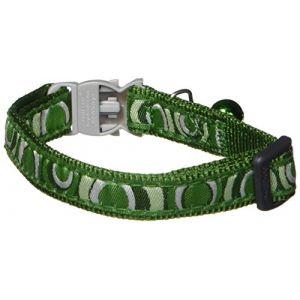 RedDingo Collier pour Chat Circadelic Vert 20-32 12 mm