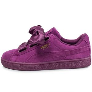 Puma Suede Heart Satin II, Sneakers Basses Femme, Violet (Dark Purple-Dark Purple), 38 EU
