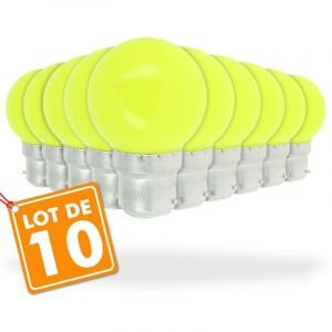 Eclairage design Lot de 10 Ampoules Led Jaune 1 watt (équivalent à 10 watt) Guirlande Guinguette