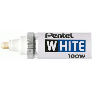 Pentel Marqueur permanent 100W encre blanc pointe ogive