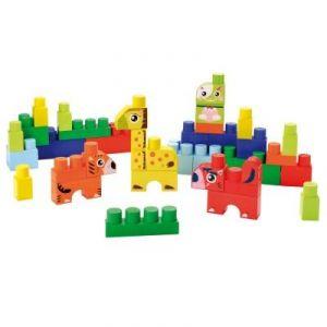 Ecoiffier 7781 - Briques de construction Abrick : Baril animaux bleu