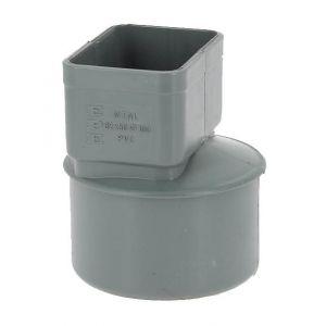 Adequa Manchon PVC O100 pour sortie tube alu 82x56mm gris